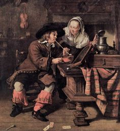 It's About Time: 1600s Music + Eating, Courting, Drinking & Dogs by Dutch artist Gabriel Metsu 1629-1667