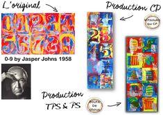 """Atelier maternelle """"à la manière de"""" Jasper Johns - Mitsouko au CP"""