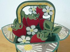 Boxcard Erdbeeren 1   von bastelmonster0815