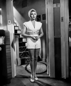 """Lana Turner~The Postman Always Rings Twice.  Hesienburgos' favorite scene. Love when Lana drops the lipstick and it rolls along and she is asked by John Garfield """"drop this?""""  And she responds """"Um hum.  Thanks"""" puts on the lipstick, walks away and closes the door. Total femme fatal. John Garfield's character is screwed. Dead meat."""