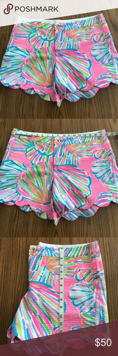 Lilly Pulitzer Shellabrate Buttercup shorts Lilly Pulitzer Shellabrate buttercup shorts. Excellent used condition. All measurements are in the photos. 💕 Lilly Pulitzer Shorts