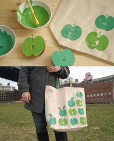 DIY tote bag. would be a great teachers gift