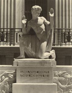 Puck, circa 1934, outside the Folger Shakespeare Library.