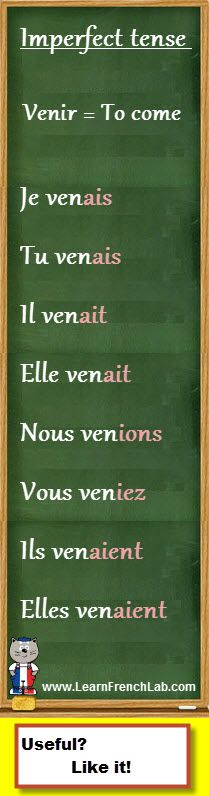 "http://www.learnfrenchlab.com Learn French #verbs How to conjugate ""venir"" (to come) in the imperfect tense"