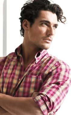 DAVID GANDY - only DG could make plaid look hot.