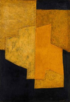 Title unknown by Russian-born French modernist painter Serge Poliakoff (1900-1969). via the yellow scale