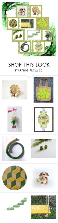 Green and Friends by fibernique on Polyvore featuring Dessous and Nintendo