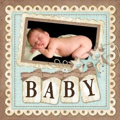 Large baby title with single picture