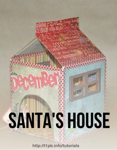 Santa's House Tutorial - Pinned from @Glossi, a free digital magazine creation platform
