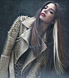 Christina Perri , jacket w studs And spikes