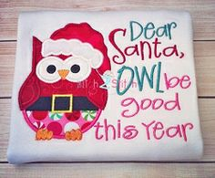 Owl Be Good Applique - 2 Sizes! | Christmas | Machine Embroidery Designs | SWAKembroidery.com The Itch 2 Stitch