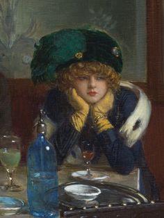 songesoleil: Les joueurs de jacquet backgammon.(detail). Oil on panel Art by Jean Béraud.(1849-1935)