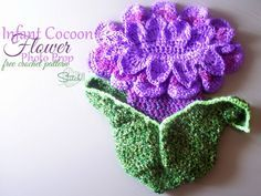 Infant Cocoon Flower by Stitch11...she's so talented!
