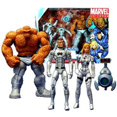 Hasbro Year 2010 Marvel Universe Series 3 SHIELD 3 Pack 4 Inch Tall Action Figure Set - Variant Gray Suit FANTASTIC FOUR with Invisible Woman, Mr. Fantastic and Thing Plus H.E.R.B.I.E Marvel,http://www.amazon.com/dp/B0083M3WNE/ref=cm_sw_r_pi_dp_X3Octb1WFPXE4B13