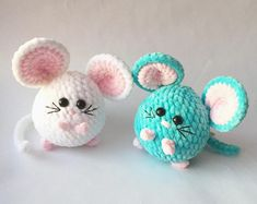 Little Plush mouse toy keychain Christmas gift Symbol of Crochet Animal Patterns, Stuffed Animal Patterns, Crochet Patterns Amigurumi, Crochet Animals, Crochet Dolls, Bear Patterns, Crochet Kawaii, Crochet Mouse, Cute Crochet