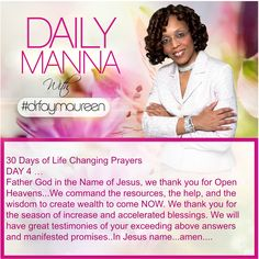 Daily Manna #188 THIRTY DAYS OF LIFE CHANGING PRAYER Day 4