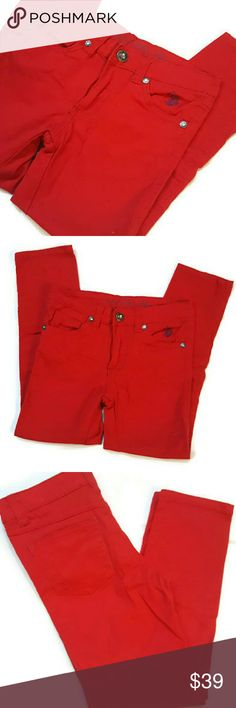 Polo skinny jeans Girl Red Polo skinny jeans size 5.. worn only 1x. In amazing condition Polo by Ralph Lauren Bottoms Jeans