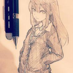 休憩〜しぶりん描いたけどこのキャラのこと全然知らない #illustration #doodle #drawing #otaku #manga #rinshibuya #idolmastercinderellagirls #イラスト #絵 #落書き #アナログ #渋谷凛