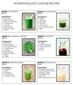 Homemade juice cleanse recipes