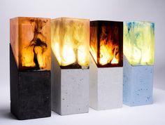 Resin night light Resin table decor Unique night Lamp