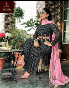Embroidery Suits Design, Embroidery Designs, Latest Punjabi Suits Design, Neck Designs For Suits, Boutique Suits, Sari, Bridal, Outfits, Watches