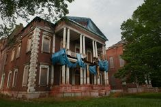 Photos and history of the abandoned James Clemens House, in St. Louis, MO.. ..♥.Nims.♥