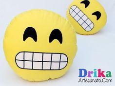 Como Fazer Almofada Emoji facilmente • Drika Artesanato