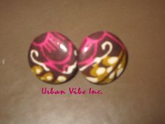 Sale Urban Button Earring Urban Pink by snchastang25 on Etsy, $6.00