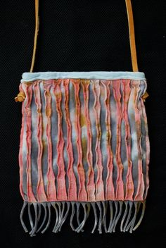 tiedyed recycled tshirt mini satchel 4 by loribeilby on Etsy, $35.00