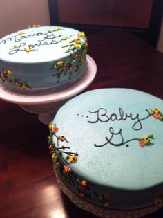 Baby Shower 2 Part Cake