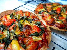 Margarita pizza on tortilla