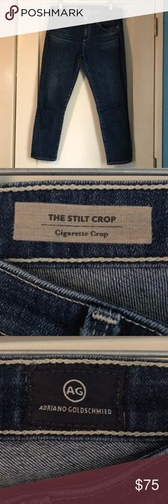 AG The Stilt Crop/Cigarette Crop AG The Stilt Crop/Cigarette Crop. Indigo. Lean silhouette. Pairs well with any casual look, especially Casual Friday's at work! Ag Adriano Goldschmied Pants Ankle & Cropped
