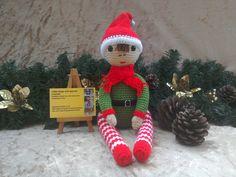 Crochet elf toy by kingsnqueenscrochet
