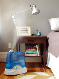 How To Clean a Humidifier with vinegar. (Full disclosure I eventually did have to utilize a little bleach- our water is CrAZY. But overall a good tutorial. — Apartment Therapy Tutorial