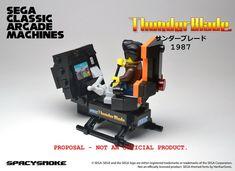 SpacySmoke – Lego Sega Arcade Classic Machines | Geek Art – Art, Design, Illustration & Pop Culture ! | Art, Design, Illustration & Pop Culture !