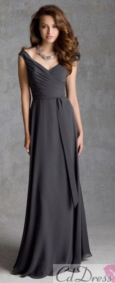 Love this dark grey color and neckline is perfect