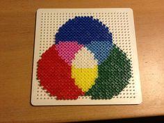 RGB colour hama beads by Randi Frederiksen
