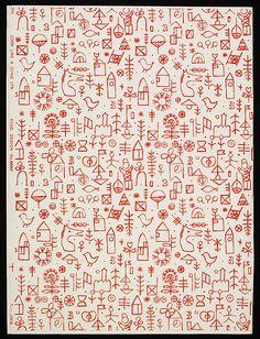 Wallpaper | Jacqueline Groag | John Line & Sons Ltd. (manufacturer) | 1951 | via V collections