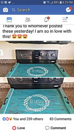 This Is An Amazing Idea~make mine yellow. Glass Stove Top Cover, Stove Covers, Kitchen Redo, Kitchen Ideas, Do It Yourself Home, Home Projects, Making Ideas, Home Kitchens, Wood Crafts