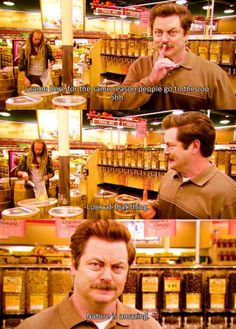 Parks and Recreation-I feel the same way about natural foods stores.