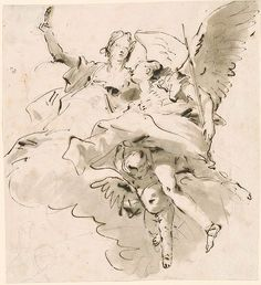 Giovanni Battista Tiepolo | Nobility and Virtue | Drawings Online | The Morgan Library & Museum