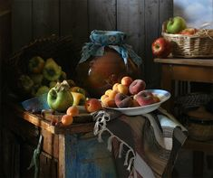 The August abundance, especially touching is a kerchief on the jug, cheerful.
