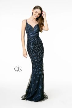 Glitter Mesh Mermaid Long Prom Dress | The Dress Outlet