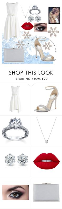 """silver bells"" by stylegirl12356 ❤ liked on Polyvore featuring Chicwish, René Caovilla, Links of London, Lime Crime and Aspinal of London"