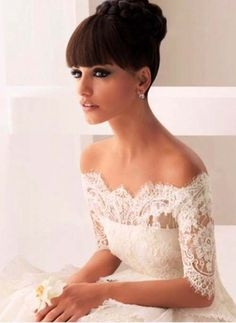 Off the shoulder perfection... Wedding dresses 2015, spring 2015 wedding dresses, wedding dresses 2015 trend