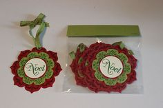 Stampin' Up Christmas Gift Tags Ornaments Noel Daydream Medallions 3 Pkg | eBay