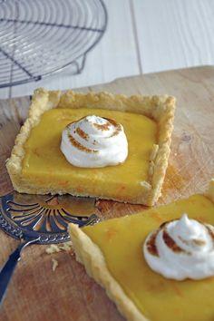 Recette Tarte aux clémentines meringuée / Recipe clementines pie with meringue