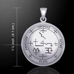 Archangel SAMAEL Talisman .925 Sterling SILVER Sigil of Samael Angelic Pendant