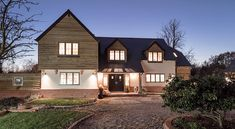David & Lesley | Flat Pack Mansion | Case Study | Self Build | Potton Home Building Design, Building A House, House Extension Design, House Design, Self Build Houses, Timber Cladding, Timber Frame Homes, Building Structure, House Extensions