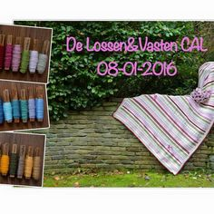 Lossen en Vasten CAL free pattern by Joke ter Veldhuis. Mixed-stitch afghan in 8 colors. Must have FB account & join group to access pattern. Cal 2016, Picnic Blanket, Outdoor Blanket, Double Knitting, Knitted Blankets, Knitting Yarn, Color Inspiration, Color Combinations, Crochet Projects